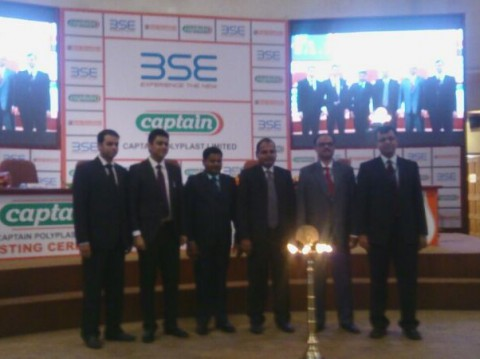 Our board members at listing ceremony at BSE